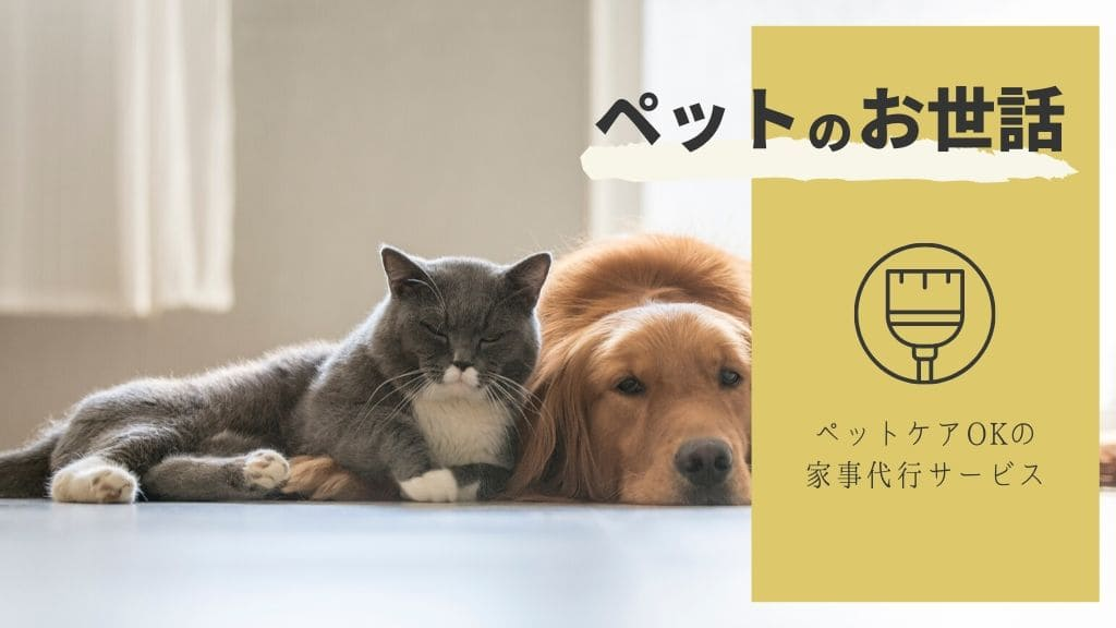 ペットケアOKの家事代行サービス6つ!【掃除・エサやり・散歩】