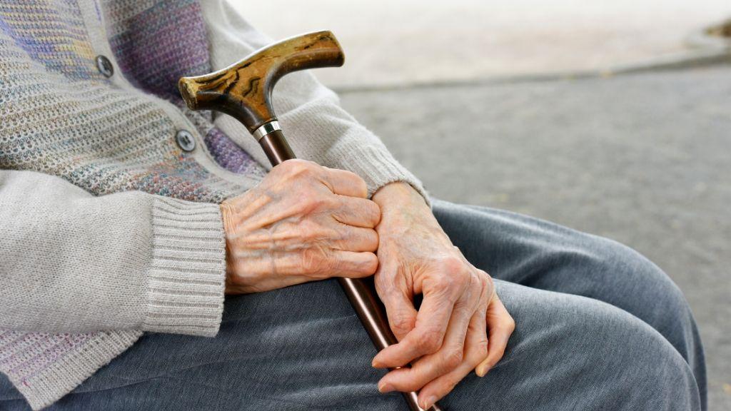高齢者の杖