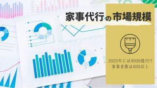 2025年には8,000億円!? 家事代行サービスの市場規模