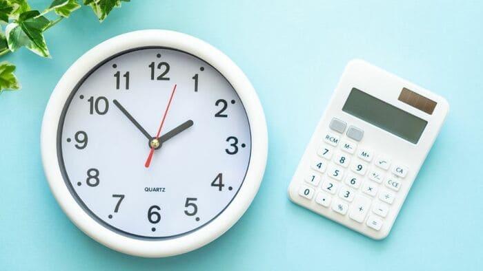 時計と計算機