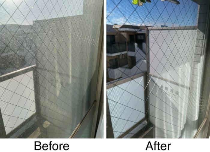窓掃除ビフォー・アフター