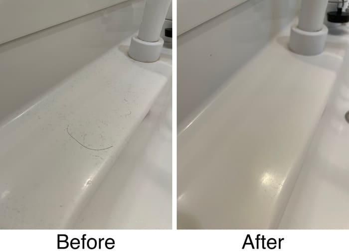 洗面台の法面