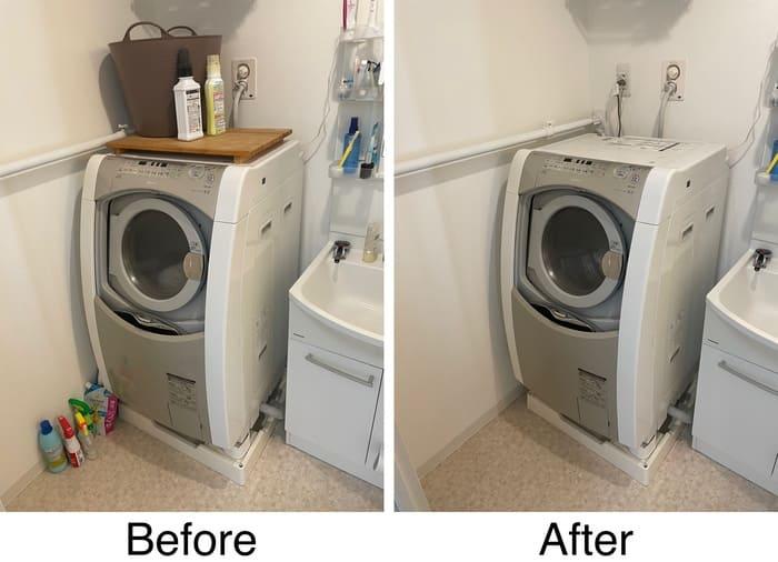 洗濯機周辺ビフォー・アフター