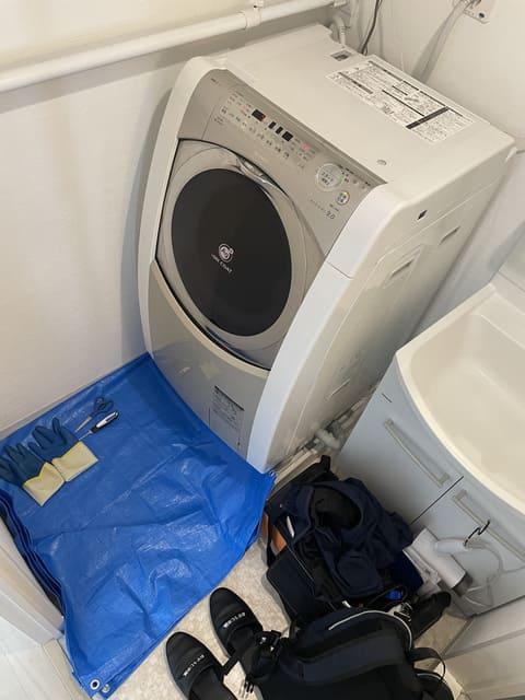 洗濯機の養生