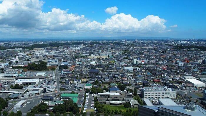 茨城県庁からの形景色